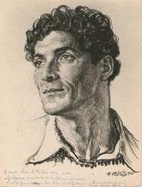 Lupovici  1945 fusain André Aaron Bilis