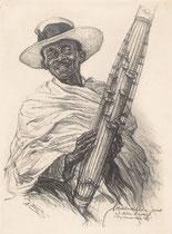 Mpilalao de Madagascar exposition coloniale Paris 1931 fusain André Aaron Bilis