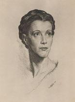 Marguerite Jamois 1948 fusain André Aaron Bilis