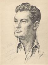 Jean Marais  1952 fusain André Aaron Bilis