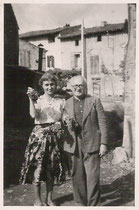 A Bilis et S.Bilis-Caraud à Garrigou - Ariège 1953