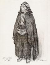 indienne Jamyulli Chili 1925 fusain André Aaron Bilis