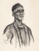 Exposition coloniale Paris 1931 fusain André Aaron Bilis