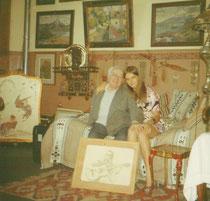 L'atelier de Paris A.Bilis et sa petite fille Nadine