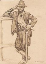 gaucho 1916 fusain André Aaron Bilis