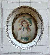 jeune fille au chapeau miniature André Aaron Bilis