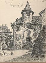Salers, Cantal  1938 André Aaron Bilis