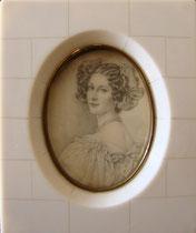 jeunne femme aux rubans dans les cheveux miniature André Aaron Bilis