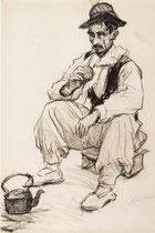 Gaucho 1926 fusain André Aaron Bilis