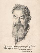 Tristan Bernard  1931 fusain  André Aaron Bilis