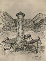 Eglise Santa colona, Andorre 1950 André Aaron Bilis