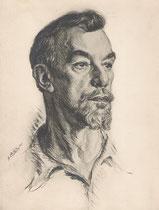 Albert Lambert  -Comedie Française  1935 fusain André Aaron Bilis