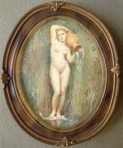 D'après La source d'Ingres miniature André Aaron Bilis
