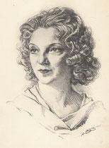 Simone 1935 fusain André Aaron Bilis