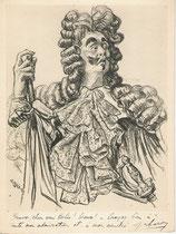Jacques Charon -Comedie Française  (M de Pourceaugnac)  1949 fusain André Aaron Bilis