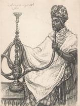 Somalie exposition coloniale Paris 1931 fusain André Aaron Bilis