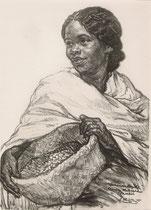 Ramanadiale  deFenoaivo, Madagascar exposition coloniale Paris 1931 fusain André Aaron Bilis
