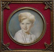 enfant aux yeux bleus 1938 miniature André Aaron Bilis