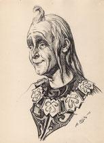 Roger Bourdin 1943 fusain André Aaron Bilis