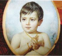 Caroline Bilis1964 miniature André Aaron Bilis
