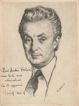 Noël Noël  1948  fusain André Aaron Bilis