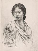 Rasendrasoa de Tanarive, Madagascar exposition coloniale Paris 1931 fusain André Aaron Bilis