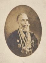 Reverent père Israstzov Archimandrite de l'église russe de Buenos Aires, Argentine miniature André Aaron Bilis