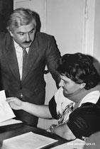 Кинооператоры: Александр Гуришидзе и Сергей Ксоврели.