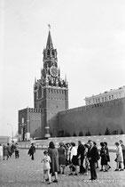 Москва. Красная площадь. Спасская башня