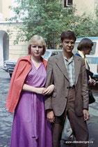 МАПТ. День вручения дипломов. 2 июля 1980 года Наталья Нестеренко, Михаил Ломалин.
