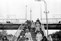 ОДИНЦОВО. XX век.  Старый ж.д. мост ст, Спуск на московскую платформу.