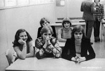 Елена Котляревская,Елена Лазорева, Ольга Мищенкова. Сзади Елена Захарова и Ирина Петрушина.