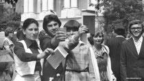 Г. Шаверина (сзади), Е. Циплакова, А. Комаров, В. Петровская, В. Овчинникова, М. Наприенков (спиной), И. Колупаев