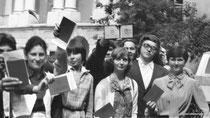 А. Комаров, Е. Циплакова, В. Петровская, М. Наприенков (сзади), В. Овчинникова, В. Шахов (сзади), И. Колупаев, Н. Беляева