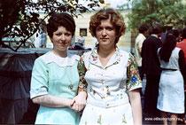 МАПТ. День вручения дипломов. 2 июля 1980 года Ирина Новикова, Галина Шаверина.