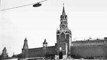 Москва. Красная площадь. Спасская башня.