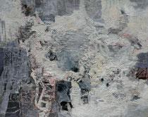 ohne Titel, 2018, Wachs, Öl, Ölkreide auf Leinen, 80 x 100 cm