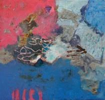 ohne Titel, 2016, Pigmnte, Öltemoera auf Leinwand, 60 x 60 cm