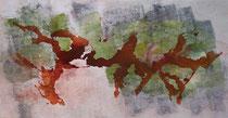 ohne Titel, 2017, Acryl auf Leinwand, 70 x 140 cm