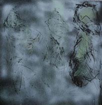 Kokons, 2014, Mischtechnik auf Holz,  51 x 51 cm