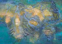 im Werden, 2014, Mischtechnik auf Leinwand, 70 x 100 cm