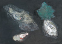 Kokons, 2014, Mischtechnik auf Leinwand,  100 x 140 cm