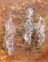 ohne Titel, 2016, Ei- und Öltempera, Ölkreide auf Leinwand, 80 x 60 cm