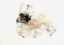 Kokon, 2012, Pigment auf Leinwand, 100 cm x 140 cm