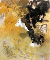 ohne Titel, 2012, Bitumen, Pigment auf Leinwand, 120 cm x 100 cm