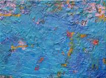 ohne Titel, 2019, 60 x 80 cm, Wachs, Öl auf Jute
