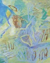 ohne Titel, 2017, Pigmente auf Leinwand, 100 x 80 cm
