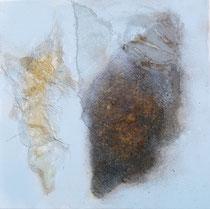 Kokons, 2014, Mischtechnik auf Leinwand, 30 x 30 cm