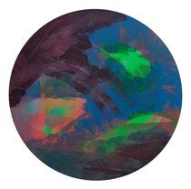 ohne Titel, 2019, 60 cm, Lack, Acryl auf Leinwand