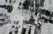 ohne Titel, 2017, Acryl, Ölkreide, Graphitstift auf Leinwand, 130 x 200 cm